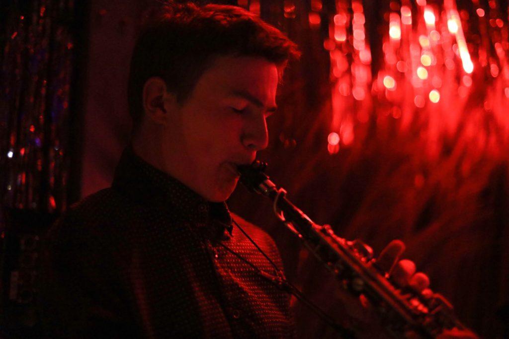 Simon Bremen live Sopransaxophon